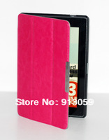 "Triangle stand leather cover case for New amazon kindle fire HD 7"" 2nd tablet free shipping"