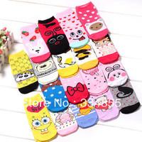 Cartoon socks right, socks ab socks polyester cotton 100% cotton