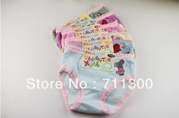 Free Shipping!2pcs/lot,mix color,Baby Girls cotton Underwear,Breathable Children Girls cartoon briefs