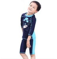 Free shipping Child spa swimwear boys kids swim trunks swimsuit surfing suit children's anti-uv swimming clothing 2-14 years