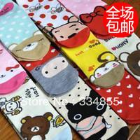 20 pieces/lot Cartoon sock slippers ab socks lovers socks women's socks