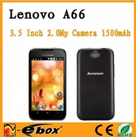 original lenovo a66 phone MTK6575 1GHZ cpu russian polish menu 3.5inch screen 2.0M camera singapore post free ship