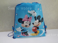 Backpack bag, color printing, laminating non-woven bags,shoulder Lenghth Handle
