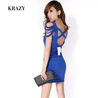 Fashion normic krazy sexy tassel sexy cross racerback slim hip 170 one-piece dress