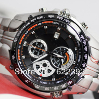 New EF-543D-1AV EF-543D-1A EF-543D 543D Men's Sport Chronograph Watch 1/20 Second Stopwatch Pendulum Swing Function