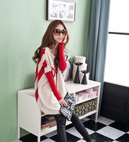New Korean female winter loose sweater and Bat sleeve sweater coat