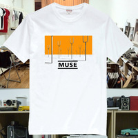 New 2013 rock band t-shirt muse rock t-shirt mu004  metallic punk pop star cool sexy chic