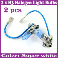 2 pcs/Lot_H3 Halogen Xenon 6000K Low Beam 12V 55W New Super White Light Bulbs