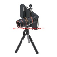 8X  Zoom Telescope Camera Lens for Mobile Phone iPhone 5 5G with Tripod Stand