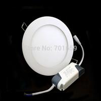 10pcs/lot Wholesales 9W ultrathin led ceiling light white/warm white high brightness led panel light ,5 Year Warranty