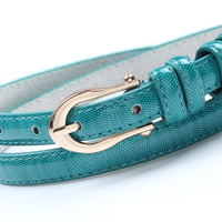 Belt Women women's japanned leather thin belt decoration strap female fashion all-match brief