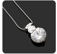 hot wholesale fashion European necklace 01101 cute bear on rhinestone choker chain
