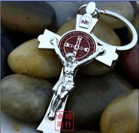 2013- best selling Christian crosses Keychain Christ Jesus Keychain