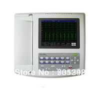 "*EMS Free Shipping"" ECG1200G 12-Channel 12-Lead 8""TFT Color LCD Display Portable Digital Cardiology ECG Machine"