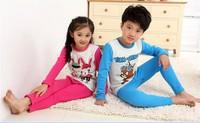 2013 New Arrival Fashion Family Suits Boys & Girls Cartoon Pajamas Sets Size S Children's Sleepwear Child Underwear Clothing Set