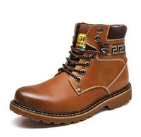2013 new brand plush 100%  leather platform boots for men oxford shoes serial 20