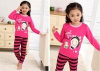 2013 New Arrival Fashion Girls Cartoon Pajamas Sets Size S Children's Child Sleepwear Underwear Clothing Set