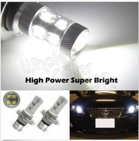FREE SHIPPING 2x HID White Car Auto 60W LED H4/9003 DRL Day Driving Head Light Fog Bulb Lamp