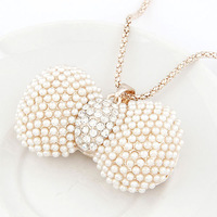 SALE!New designer necklace 2013 christmas jewelery necklace pendant rhinestone with pearl butterfly woman necklace free shipping