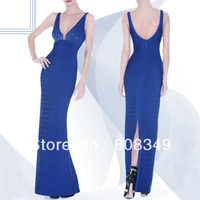 2013 Blue Sleeveless Bandage Gown, gorgeous legerity formal dress, 100% superior texture