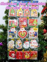 Christmas tree decoration for mini wish card (Christmas card)(China (Mainland))