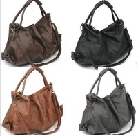 Free shipping wholesale HotSale New Korean Style Lady Hobo PU Leather Handbag Shoulder Bag Fashion1Pcs/Lot W1283