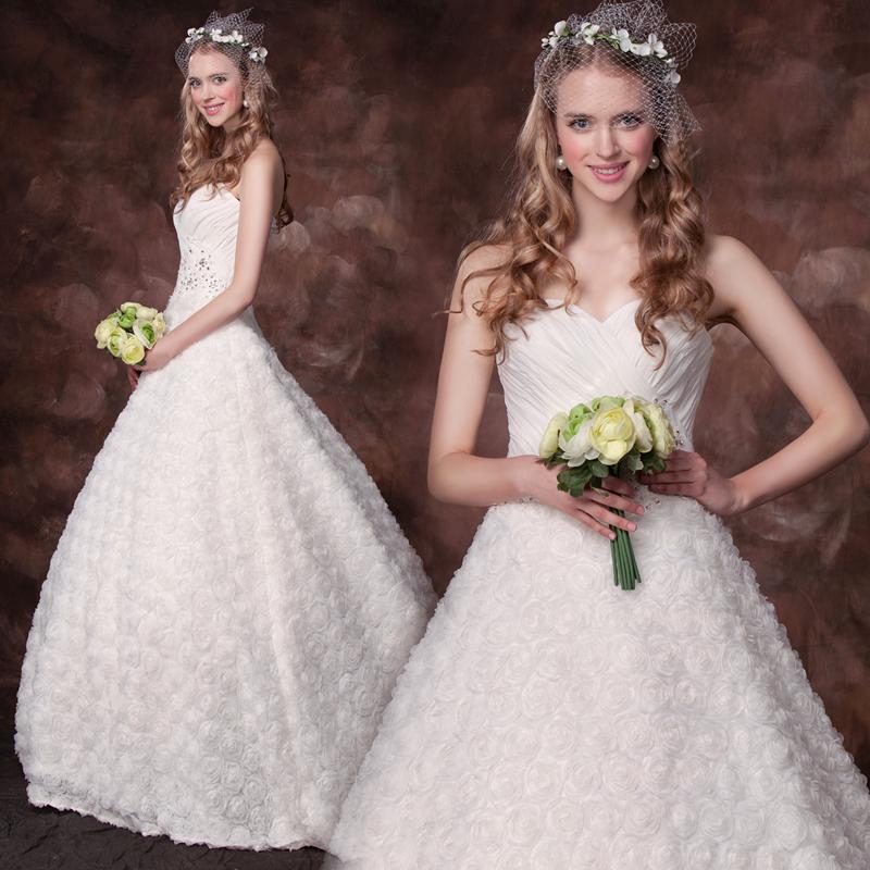 Jasmine princess 2013 lace princess wedding dress short trailing aesthetic flower(China (Mainland))