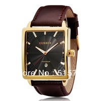 CURREN 8117 man watches of the brands Men's Square Dial Analog Watch with Date Display