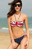 Fashion fashion tube top fashion halter-neck bikini fancy swimwear female