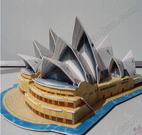 The Sydney opera house,3d puzzle model  toy Building model paper form