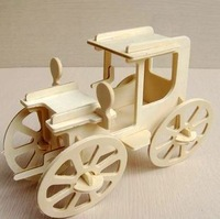 Artificial wooden car model three-dimensional puzzle 3d assembling educational toys ,10*21.2*22cm