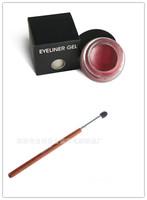 2013 Fashion Special Hot Sale Red  Waterproof Eye Liner Eyeliner Gel Makeup Cosmetic + Brush Makeup Set V106208 +V0240A