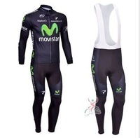 Anyone to match! New! 2013 Movistar Team  Cycling Jersey / Cycling Clothing / Long (Bib) Pants / Set-C13014