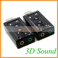 USB 2.0 External 3D Virtual 7.1 Channel Audio Sound Card Adapter