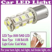 2 pcs/Lot_1156 BA15S Tail Brake 18 LED 5050 SMD Turn Signal Pure Cold White Light Bulb Lamp
