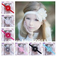 Baby Lace Flower Headband Vintage inspired Lace Baby Flower Headbands Infant girls baptism christening headband 10pcs HB166
