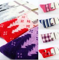 Autumn and winter rabbit wool pure cotton short sock woman socks A325 (1 lot = 5 pairs = 10 pcs)