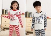 2013 New Arrival Fashion Family Kids Pajama Children's Sleepwear Girls & Boys Cartoon Pajamas Set Child Underwear Size L