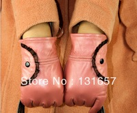 FREE SHIPPING New 2013 Fashion Winter Women's Gloves,Genuine Leather Gloves, Warm Gloves Mitts For Women.G-039