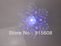 Snowflakes Style Colorful LED light with Suction Cup (2*3V)