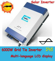 Solar Grid Tie Inverter with CE Approved, 6000W On Grid Solar Inverter with High speed MPPT