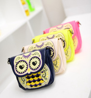 New south Korean style printing design cartoon owl one shoulder  multipurpose women handbags free shipping