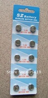 500cards/Lot, AG10 LR1130 1.5V alkaline button cell battery, 100% fresh high quality