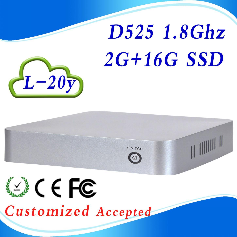 In Stock !!! wifi micro computer virtual desktop computing zero client 1*DC-IN jack INTEL D525 16G SSD(China (Mainland))