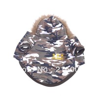 Auntumn Winter Cool Camo Dog Clothes Coats Warm Dog Clothing Jacket Sweater