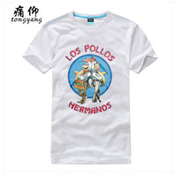 Los Pollos Hermanos Breaking Bad White Tee Shirt Women Male %100 Cotton Short sleeve O-Neck Fashion Black Grey Custom T-Shirt