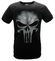 Free Shipping New Fashion Skull T-shirt The Punisher Slim Print O-neck Short Sleeve Tops Tees For Men S/M/L/XL/XXL/3XL