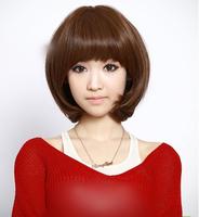 Wire bobo wig female short hair cute fluffy repair