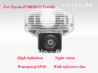 Free Shipping Special Car Rear View Camera for 07/08/09/11 Toyota Corolla,HD Waterproof-IP68 Night vision With reference line