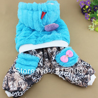 Autumn Winter Cartoon Fleece Dog Clothing Coat Wear Dog Jacket Sweater Clothes